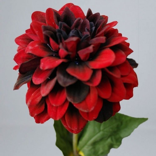Kunstbloem Dahlia rood