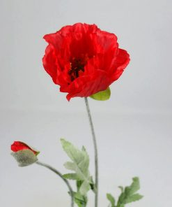 Kunstbloem Klaproos rood