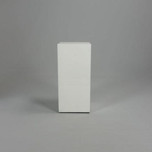 Hoogglans witte zuil 28 x 28 x 60 cm