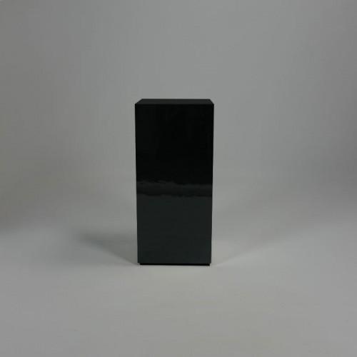 Hoogglans zwarte zuil 28 x 28 x 60 cm