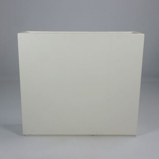 Brede polyester plantenbak Wit