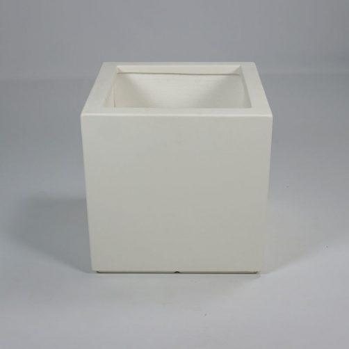 Vierkante polyester plantenbak Wit