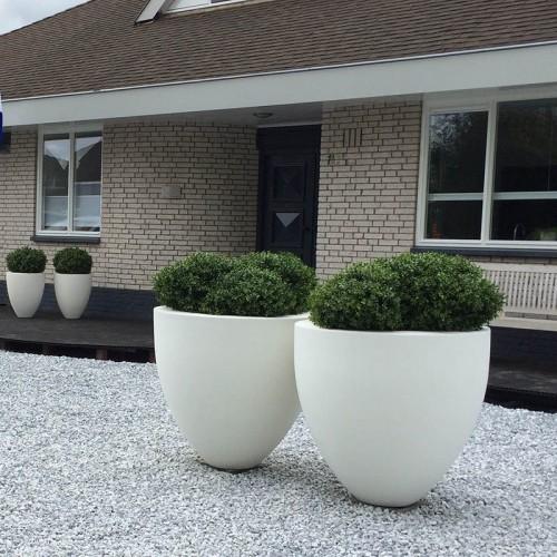 Polyester plantenbakken wit