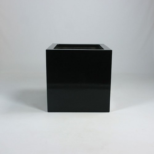 Hoogglans vierkante polyester plantenbak